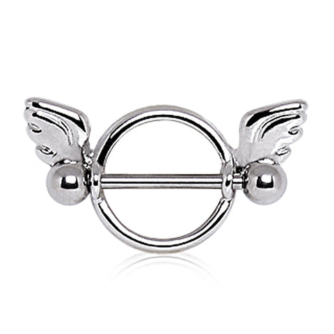 316L Surgical Steel Winged Circular Nipple Ring
