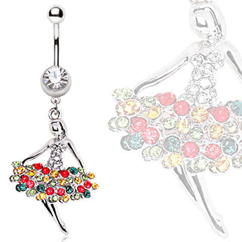 316L Surgical Steel Ballerina Navel Ring