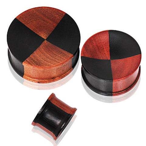 Two Tone Wood Solid Plug