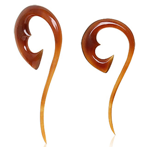 Question Mark Shaped Buffalo Horn Taper - 6GA - Sold as a Pair