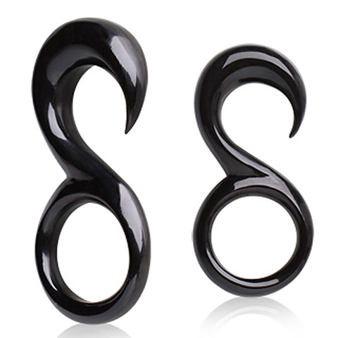 "Buffalo Horn Taper with ""8"" Shape - 6GA - Sold as a Pair"