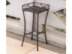 International Caravan Lisbon Iron Plant Stand in Dark Chocolate