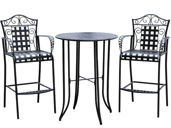 Mandalay 3 Piece Iron Bar Bistro Set for only $285