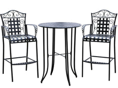 Mandalay 3 Piece Iron Bar Bistro Set for only $279