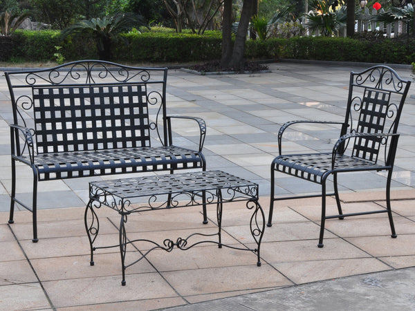 Mandalay 3 Piece Iron Loveseat Set for only $285