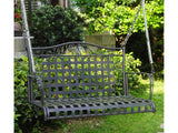International Caravan Mandalay Iron Porch Swing in Antique Black