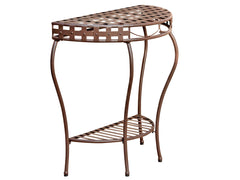 Santa Fe Iron Porch Half Moon Table for only $72