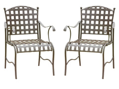 Santa Fe Iron Bistro Chairs Set of 2 for only $179