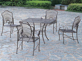 Patio Dining Set - Square Table and 4 Chairs