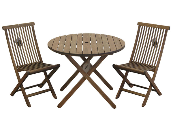 Timbo Mestra 3 Piece Hardwood Bistro Set for only $219