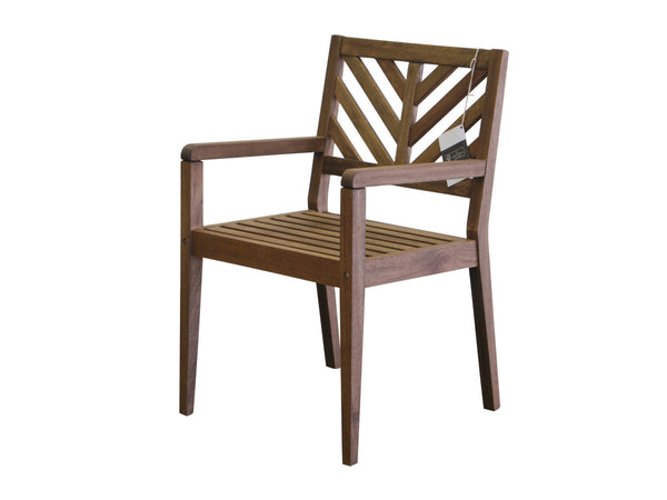 Timbo by Butzke, Mestra Hardwood Chair with Arms