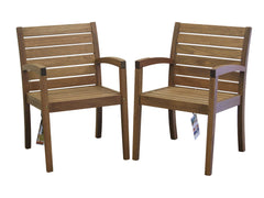 Timbo Vila Rica Patio Hardwood Chairs with Arms - Set of 2 for only $189
