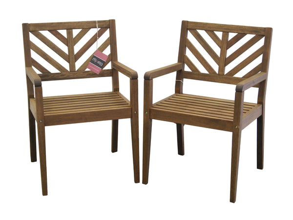 Timbo Mestra Patio Hardwood Chairs with Arms  - Set of 2 for only $189