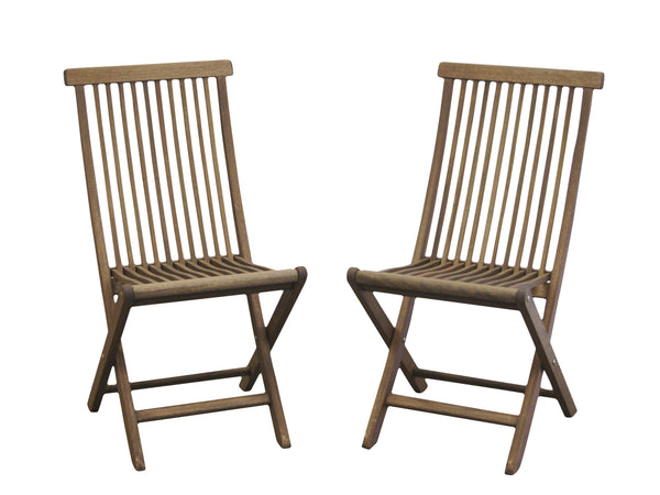Timbo Mestra Patio Hardwood Folding Chairs - Set of 2 for only $139
