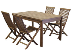 Timbo Mestra Dining Set with Folding Chairs for only $425
