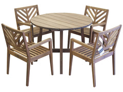 Timbo Mestra 5 Piece Dining Set with Round Table for only $519