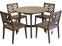 Timbo Mestra 5 Piece Dining Set with Round Table for only $475