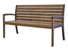 Timbo Vila Rica Patio Hardwood 3 Seat Bench with Arms for only $163