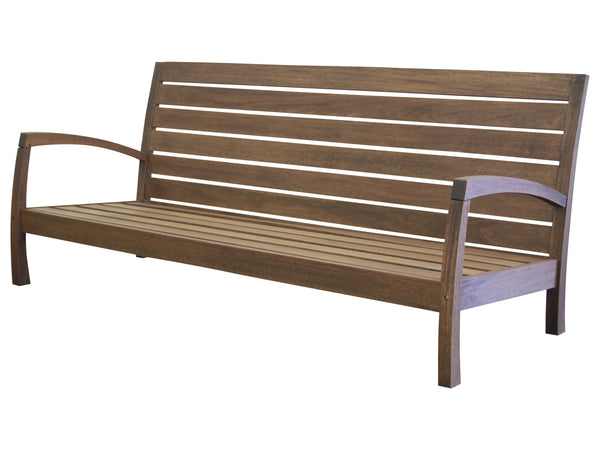 Timbo Vila Rica Patio Hardwood 3 Seat Loveseat with Arms for only $279