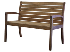 Timbo Vila Rica Patio Hardwood 2 Seat Bench with Arms for only $134