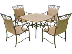Valencia 5 Piece Resin Wicker and Steel Dining Set for only $5499