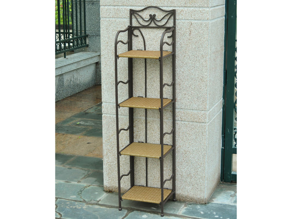 International Caravan Valencia Iron 12 Inch Wide Plant Stand in Honey