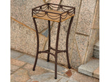 International Caravan Valencia Iron Plant Stand in Honey