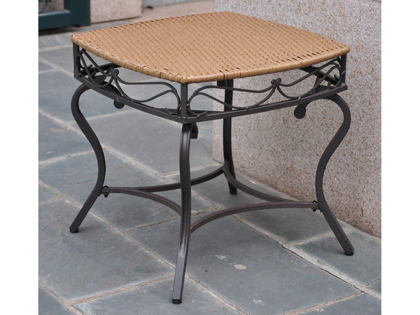 International Caravan Valencia Iron Side Table in Honey