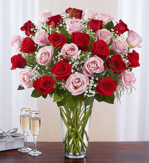 Ultimate Elegance™ 36 Long Stem Pink & Red Roses