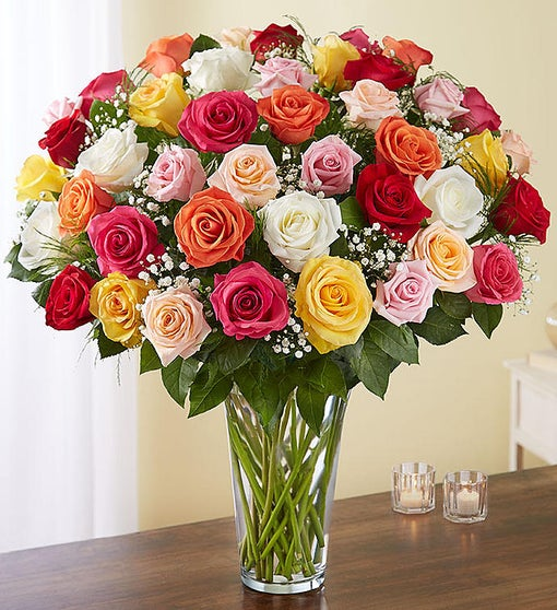 Ultimate Elegance™ 48 Long Stem Assorted Roses