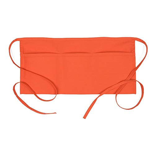 Fame Original 3 Pocket Waist Apron 18132 for Adults in Orange - One Size Fits Most - Unisex (F9-83534)