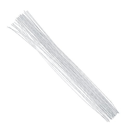 DECORA 20 Gauge White Floral Stem Wire 16 inch,50/Package