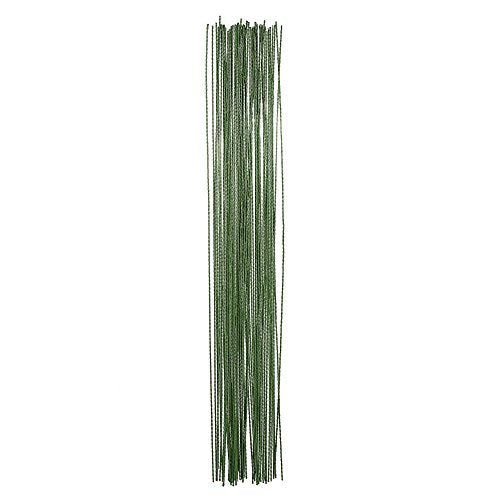eBoot Stem Wire Floral Wire 14 Inch 26 Gauge Wire, 100 Pieces (Dark Green)