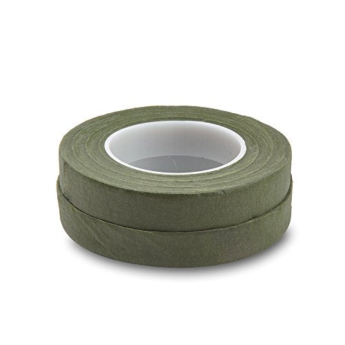 Topenca Supplies Floral Tape Green, 1/2 Inch Wide x 30 Yards, 2 Pack, Ideal for Bouquet Stem Wrap Floral Arranging and Craft Projects