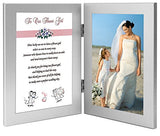 Flower Girl Gift, Thank You Wedding Poem from Bride and Groom Frame, Add Photo