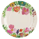 Watercolor Floral Party Bundle, Includes Plates, Napkins, Cups, and Cutlery (24 Guests,144 Pieces)