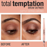 Maybelline Total Temptation Eyebrow Definer Pencil, Soft Brown, 1 Count