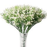 "Hantajanss 12 pcs Baby Breath Gypsophila Artificial Flowers Bouquets Fake Real Touch Flowers for Wedding Party Decoration DIY Home Decor 21"" White"