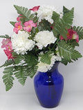 "Floral Supply Online - 4.25"" Silk Carnations on Stem Pick - Featuring New Larger Bloom Size for Floral Arrangements, Weddings, Flowers, Home Decor or Office. (Cream, Box of 50)"