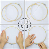 Similane 5 Pieces Embroidery Hoops Bamboo Circle Cross Stitch Hoop Ring 5 inch to 10 inch for Embroidery and Cross Stitch