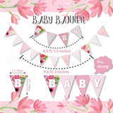 1st Birthday Girl Decorations | Baby Girl First Birthday Decorations I First Birthday Floral Set | Pink and Gold 1st Birthday Decorations Girl | Party Supplies | Girl First Birthday Decorations