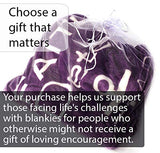 Blankiegram Bravery Inspirational Throw Blanket for Strength, Encouragement & Perseverance | The Perfect Caring Gift (Purple)