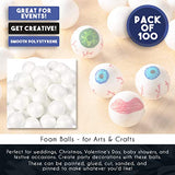 Juvale Foam Balls, Arts and Crafts Supplies (1 in, 100-Pack)