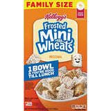 Kellogg's Frosted Mini-Wheats, Breakfast Cereal, Original, Good Source of 7 Vitamins and Minerals, Family Size, 24oz Box