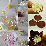 SK Flower Stamens 2 Bundles of 160-180 Stems Pearl Stamens for Scrapbooking Pistil Cake Decoration Craft DIY, 2.17-Inch, Yellow