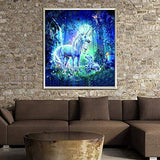 NEILDEN 5D DIY Diamond Painting by Number Kits Unicorn Full Drill Diamond Gem Art Kits for Adults Crystal Rhinestone Embroidery Painting for Beginner (Canvas Size:14x18inch/35cmx45cm)