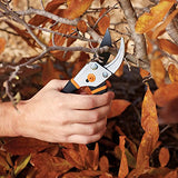 Fiskars 91095935J Steel Pruning Shears Bypass Pruner, 1