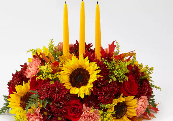 Giving Thanks Candle Centerpiece By FTD