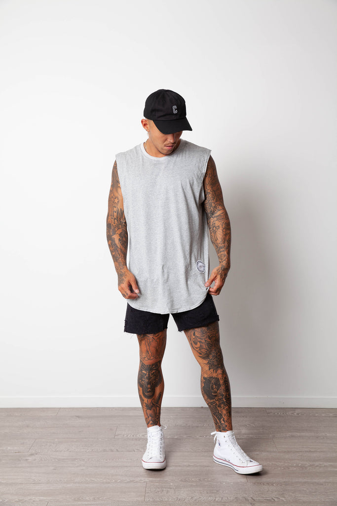 BASIC MUSCLE TANK GREY