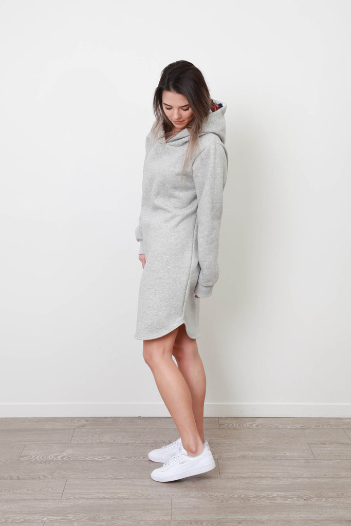 MILA SNOW SPRING DRESS GREY